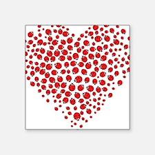 Heart of Ladybugs Sticker