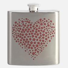 Heart of Ladybugs Flask
