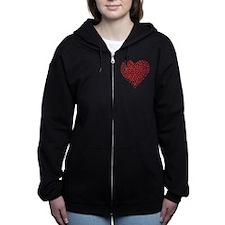 Heart of Ladybugs Zip Hoodie