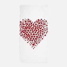 Heart Of Ladybugs Beach Towel