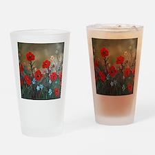 Poppy Garden Love Drinking Glass