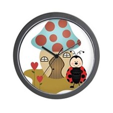 ladybug with house Wall Clock