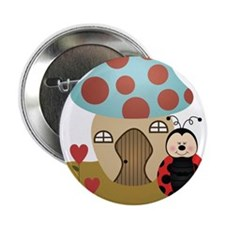 "ladybug with house 2.25"" Button"