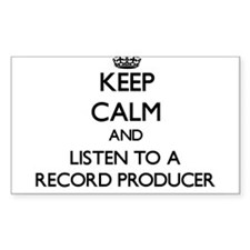 Keep Calm and Listen to a Record Producer Decal