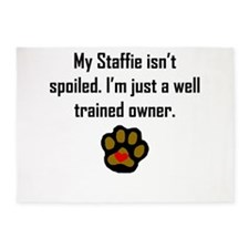 Well Trained Staffie Owner 5'x7'Area Rug