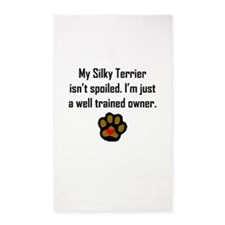 Well Trained Silky Terrier Owner 3'x5' Area Rug