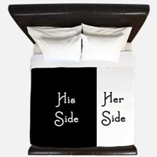 His Bigger Side Black King Duvet