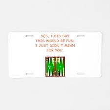 backgammon Aluminum License Plate