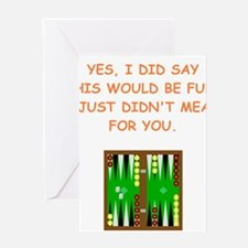 backgammon Greeting Cards