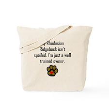 Well Trained Rhodesian Ridgeback Owner Tote Bag