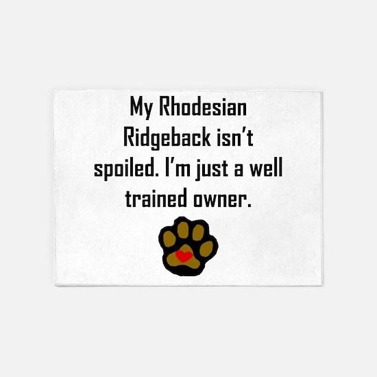 Well Trained Rhodesian Ridgeback Owner 5'x7'Area R