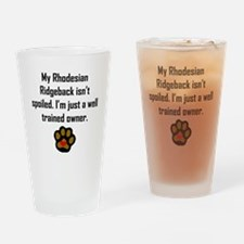 Well Trained Rhodesian Ridgeback Owner Drinking Gl