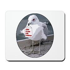 Gull Keeps Clams Mousepad