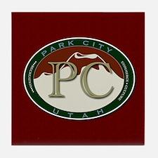 Park City Mountain Logo Tile Coaster