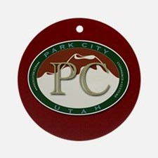 Park City Mountain Logo Ornament (Round)