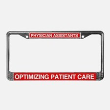 Cute Physician license License Plate Frame