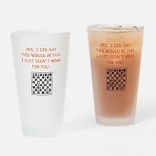 chess Drinking Glass