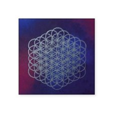 Purple Flower of Life Sticker