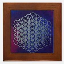 Purple Flower of Life Framed Tile