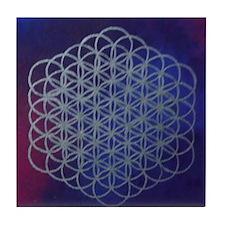 Purple Flower of Life Tile Coaster