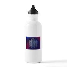 Purple Flower of Life Water Bottle