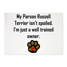 Well Trained Parson Russell Terrier Owner 5'x7'Are