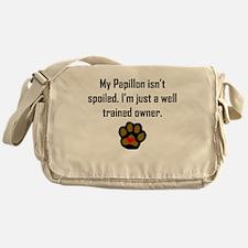 Well Trained Papillon Owner Messenger Bag