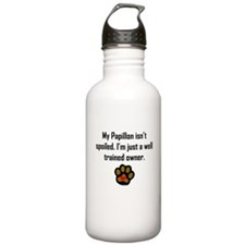 Well Trained Papillon Owner Water Bottle