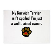 Well Trained Norwich Terrier Owner 5'x7'Area Rug