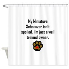 Well Trained Miniature Schnauzer Owner Shower Curt
