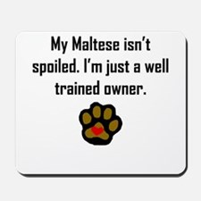 Well Trained Maltese Owner Mousepad