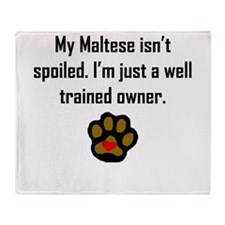Well Trained Maltese Owner Throw Blanket