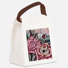 SUGAR SKULL ROSES Canvas Lunch Bag