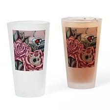 SUGAR SKULL ROSES Drinking Glass