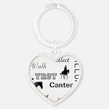 Horse Design #52000 Heart Keychain