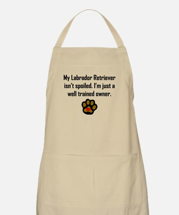 Well Trained Labrador Retriever Owner Apron