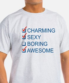 Charming, Sexy, and Awesome T-Shirt