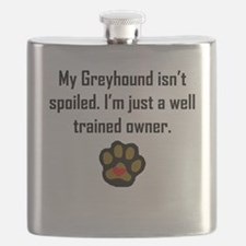 Well Trained Greyhound Owner Flask