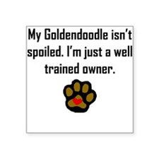 Well Trained Goldendoodle Owner Sticker