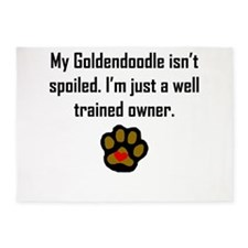 Well Trained Goldendoodle Owner 5'x7'Area Rug