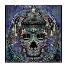 PAVO SKULL Tile Coaster