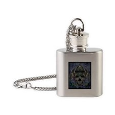 PAVO SKULL Flask Necklace
