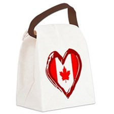 CANADA HEART Canvas Lunch Bag