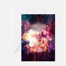 ABSTRACT SKULL Greeting Cards