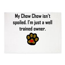 Well Trained Chow Chow Owner 5'x7'Area Rug