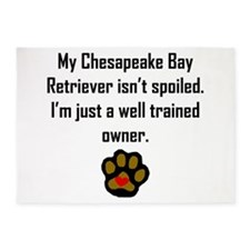Well Trained Chesapeake Bay Retriever Owner 5'x7'A