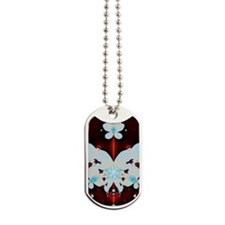 Snow Butterfly Dog Tags