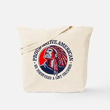 Proud Native American (Columbus) Tote Bag