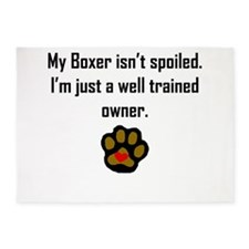 Well Trained Boxer Owner 5'x7'Area Rug