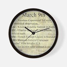 March 9th Wall Clock